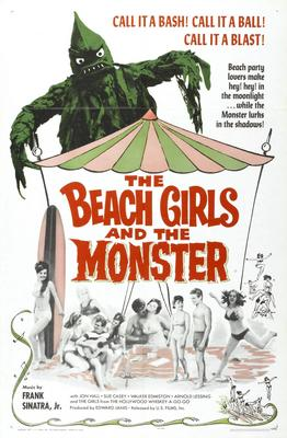 Beach Girls And The Monster Movie Poster Master Print