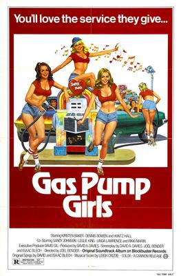 Framed Gas Pump Girls Movie Poster Master Print
