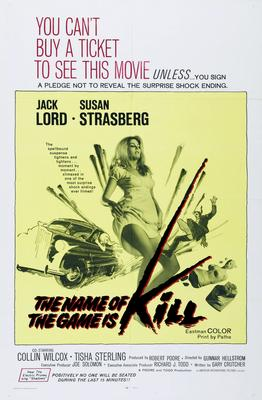 Name Of The Game Is Kill Movie Poster Master Print